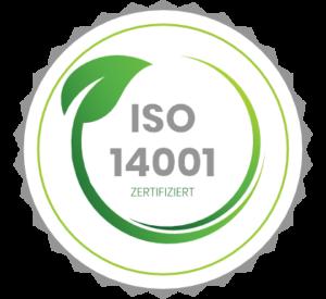 ISO 1400 Umweltmanagement Zertifikat